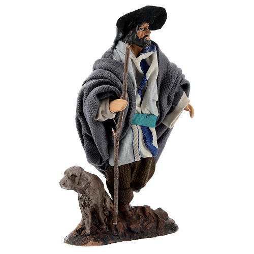 Limping man with dog 12 cm Neapolitan nativity figurine 4