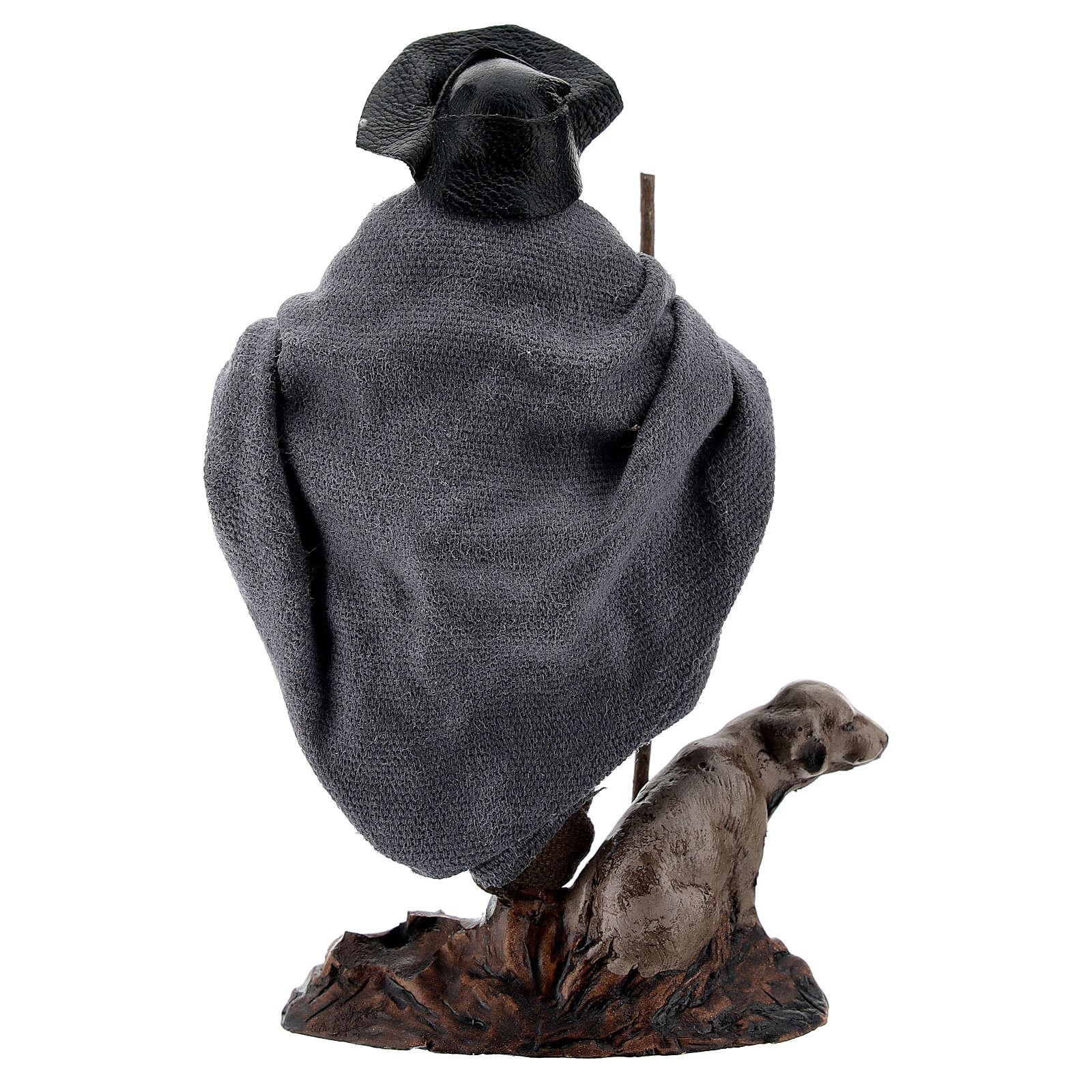 Zoppo con cane bastone terracotta presepe napoletano 12 cm 4