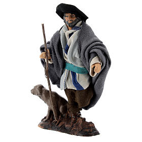 Limping man with dog in terracotta, 12 cm Neapolitan nativity s3
