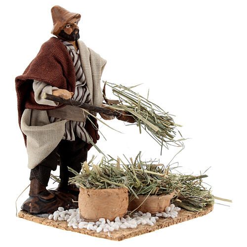 Farmer with pitchfork 12 cm Neapolitan nativity figurine 4