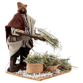 Farmer with pitchfork terracotta, 12 cm Neapolitan nativity s4