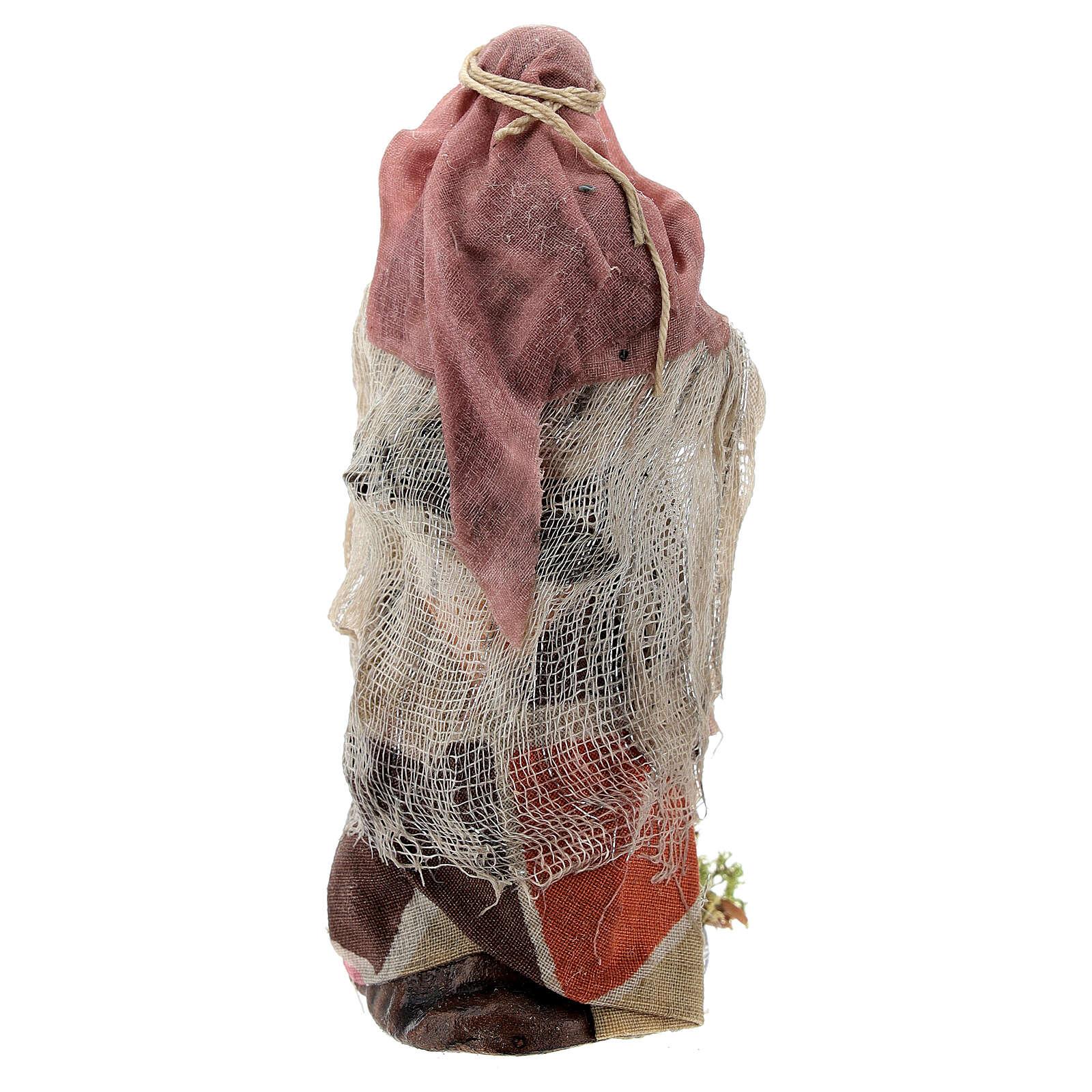 Donna con anfore statua terracotta presepe napoletano 12 cm 4