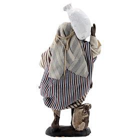 Black man carrying sacks 12 cm Neapolitan nativity figurine s5