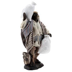 Mulatto con sacco statua terracotta presepe napoletano 12 cm s4