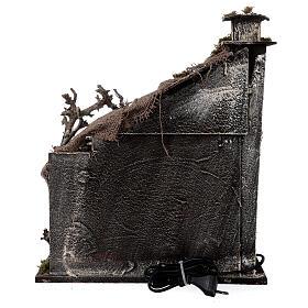 Capanna Natività portone tetto iuta statue 12 cm presepe napoletano 30x35x45 cm s6