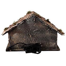 Capanna Natività tipo stalla statue 8 cm terracotta presepe napoletano 20x30x20 s5
