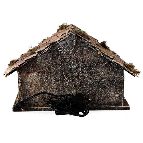 Nativity stable with Holy Family 8 cm terracotta Neapolitan nativity 20x30x20 cm 5