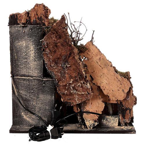 Aldeia Natividade varanda e fonte presépio napolitano figuras altura média 8 cm, 40x40x40 cm 7