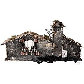 Cabana Natividade com forno, figuras altura média 8 cm presépio napolitano, 27x49x23 cm s6