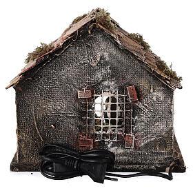 Cabane toit en pente figurines Nativité 10 cm crèche napolitaine 20x25x20 cm s5