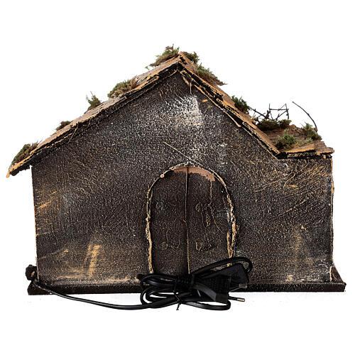 Cabana Natividade celeiro figuras altura média 10 cm presépio napolitano 30x36x27 cm 5