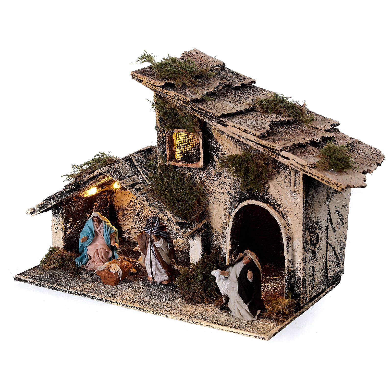 Capanna pastore meravigliato presepe napoletano statue 6 cm 15x25x15 4