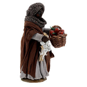 Gypsy woman with tomato basket statue, Naples nativity 10 cm s3