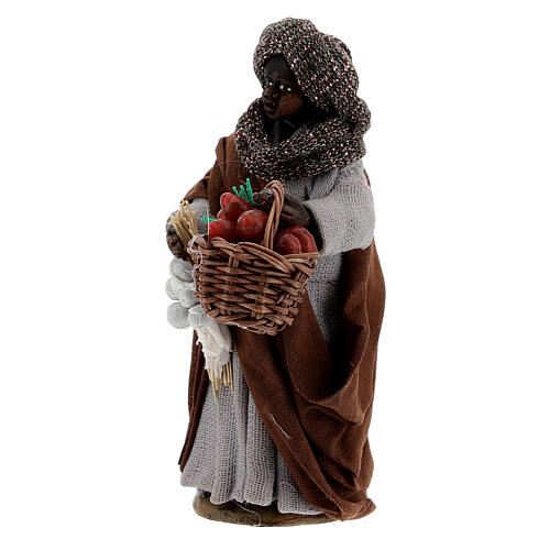 Gypsy woman with tomato basket statue, Naples nativity 10 cm 2