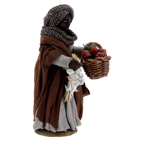 Gypsy woman with tomato basket statue, Naples nativity 10 cm 3