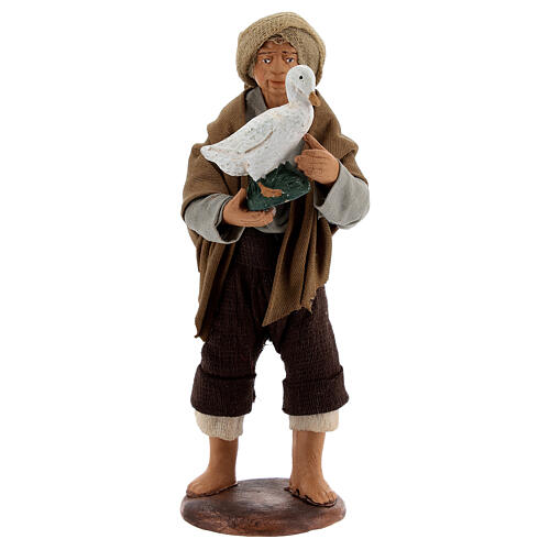 Shepherd with goose 13 cm Neapolitan Nativity Scene 1
