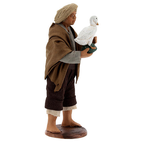 Shepherd with goose 13 cm Neapolitan Nativity Scene 3