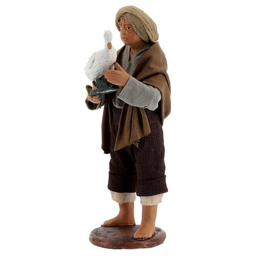 Berger avec oie crèche napolitaine 13 cm 2