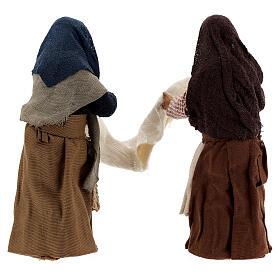 Femmes avec drap crèche napolitaine 13 cm s5