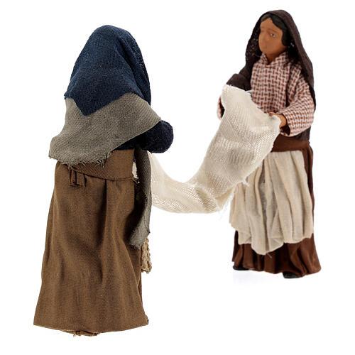 Femmes avec drap crèche napolitaine 13 cm 4