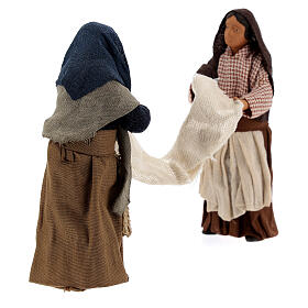 Women with bed sheet Neapolitan nativity 13 cm s4