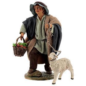 Child with basket and sheep Neapolitan Nativity Scene figurine 30 cm s3