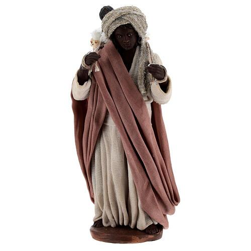 Moor women with child in basket Neapolitan nativity 13 cm 1