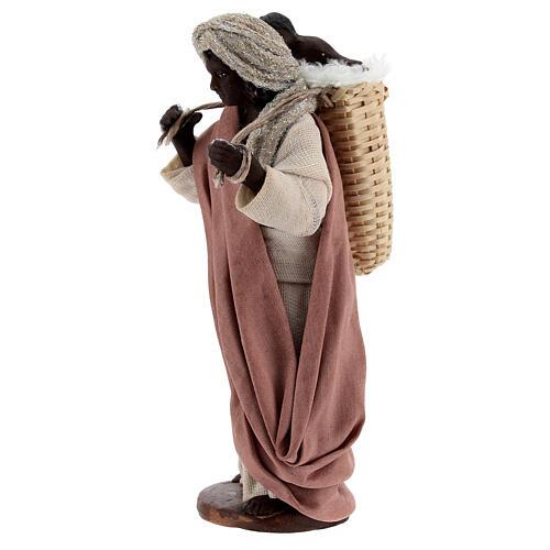 Moor women with child in basket Neapolitan nativity 13 cm 4
