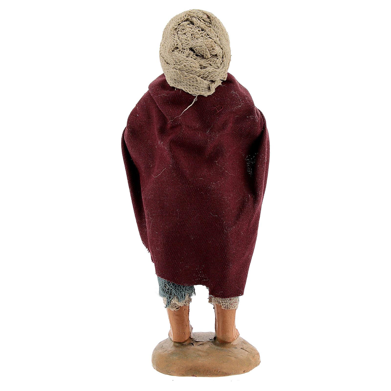 Fazendeiro com ganso para presépio napolitano com figuras de altura média 10 cm 4