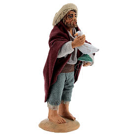Farmer with goose Neapolitan nativity 10 cm s2