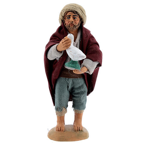 Farmer with goose Neapolitan nativity 10 cm 1