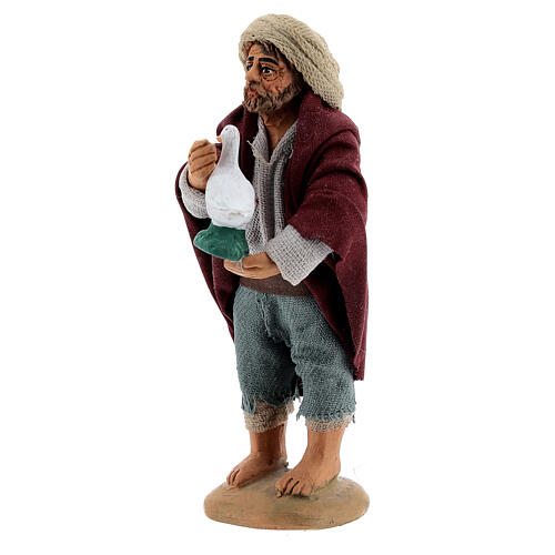 Farmer with goose Neapolitan nativity 10 cm 3