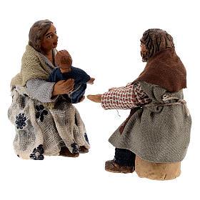 Family with child scene Neapolitan Nativity Scene figurines 10 cm s3