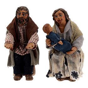 Scène famille et enfant crèche napolitaine 10 cm s2