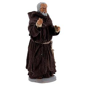 Father Pio statue in terracotta, Neapolitan Nativity Scene figurine 10 cm s2