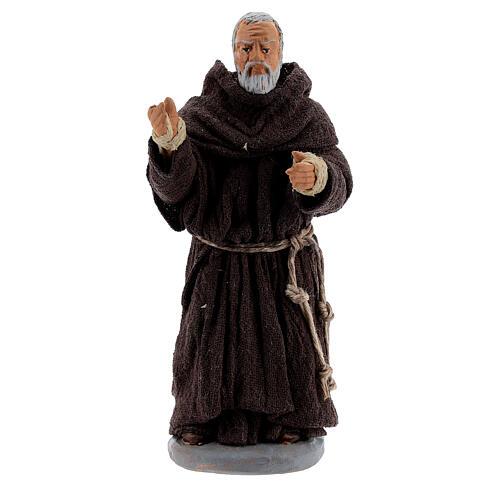 Father Pio statue in terracotta, Neapolitan Nativity Scene figurine 10 cm 1