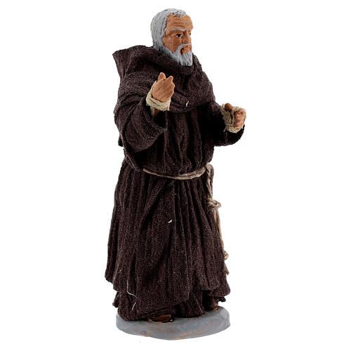 Father Pio statue in terracotta, Neapolitan Nativity Scene figurine 10 cm 2