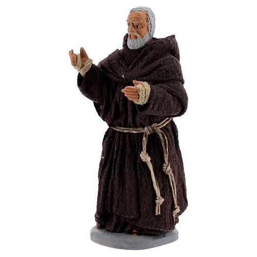 Father Pio statue in terracotta, Neapolitan Nativity Scene figurine 10 cm 3