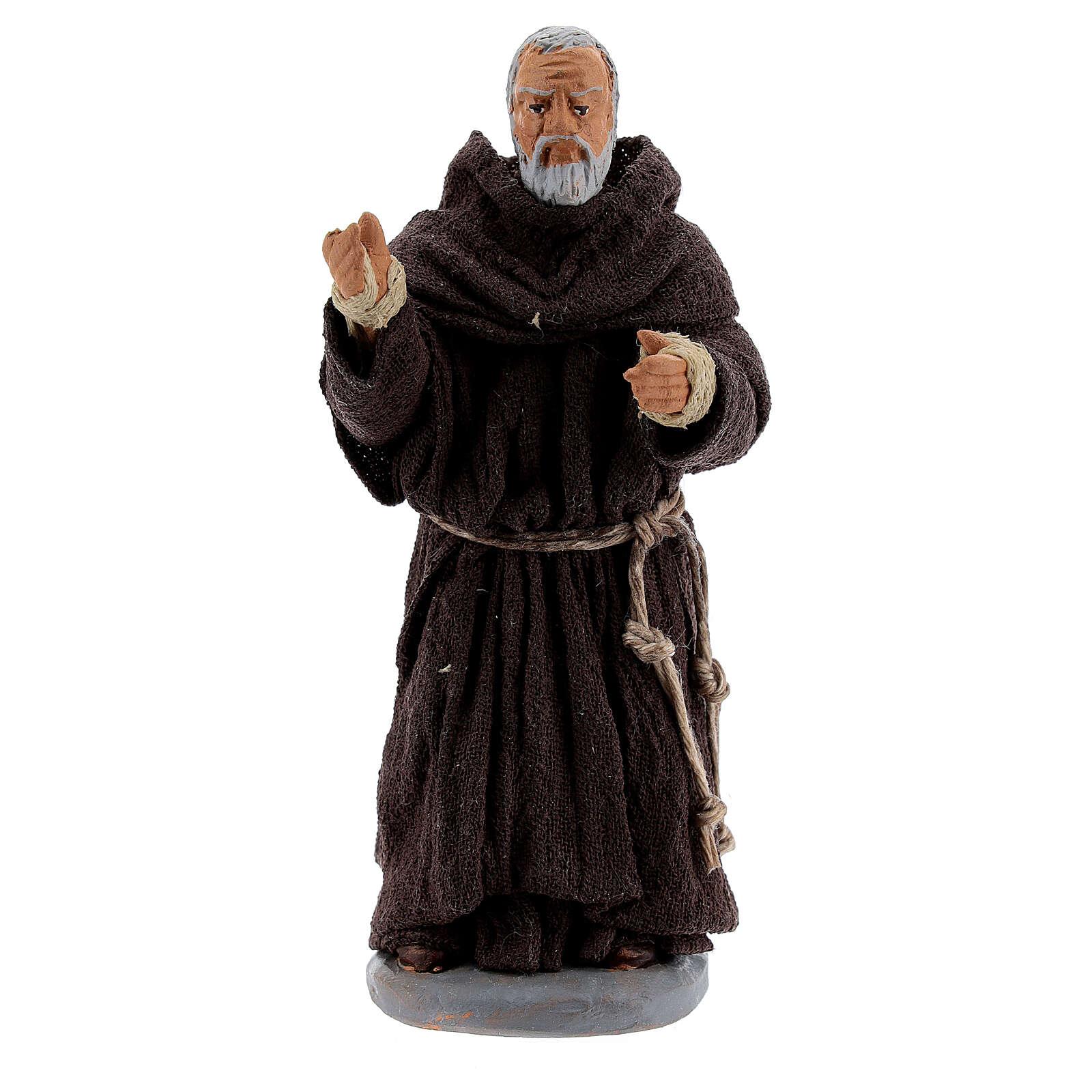 Padre Pio terre cuite 10 cm 4