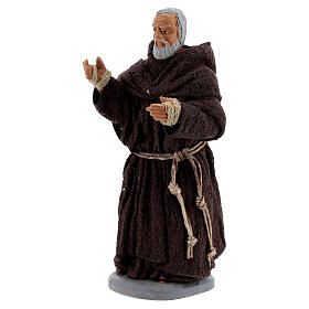 Padre Pio terracotta 10 cm s3