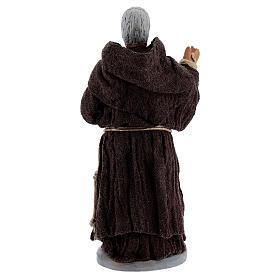 São Padre Pio de Pietrelcina terracota 10,5 cm s4