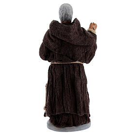 Padre Pio statue in terracotta 10 cm s4