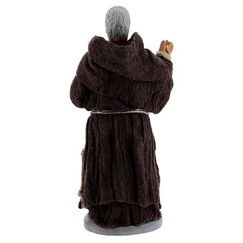 Padre Pio statue in terracotta 10 cm 4