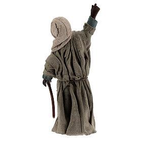 Moor shepherd pointing up Neapolitan nativity 13 cm s4