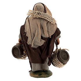 Pastor carregando barris presépio napolitano com figuras de altura média 10 cm s4