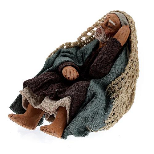 Resting man figure Neapolitan nativity scene 10 cm 2
