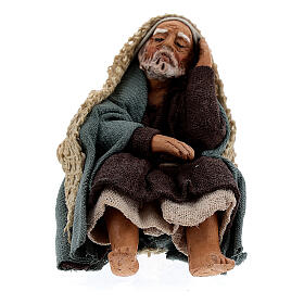 Pastor descansando para presépio napolitano com figuras de altura média 10 cm s1