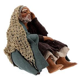 Pastor descansando para presépio napolitano com figuras de altura média 10 cm s3