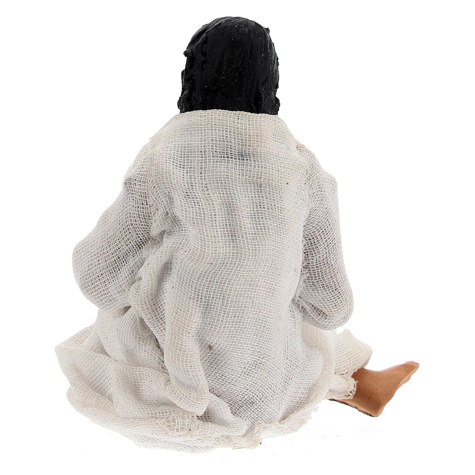 Mulher dando à luz figura para presépio napolitano com personagens de altura média 13 cm 4