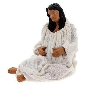 Mulher dando à luz figura para presépio napolitano com personagens de altura média 13 cm s2